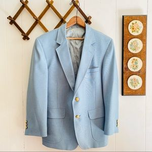Vintage Baby Blue Blazer Made in USA